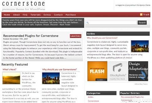 Cornerstone theme
