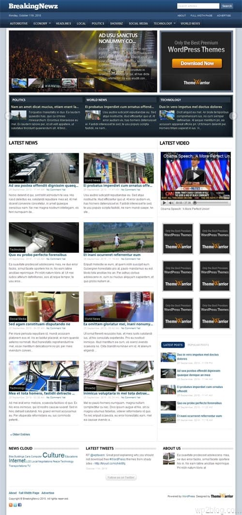BreakingNewz  Premium WordPress Theme