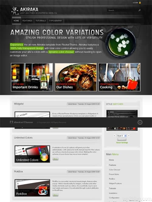 akiraka wordpress theme
