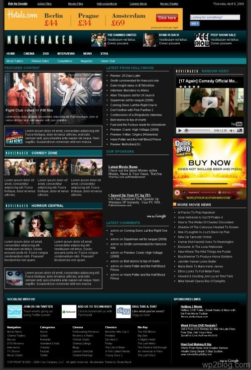 moviemaker wordpress theme