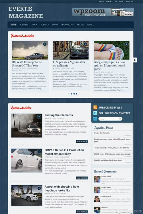evertis magazine wordpress theme