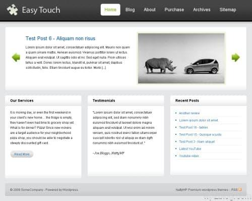 easy touch wordpress theme