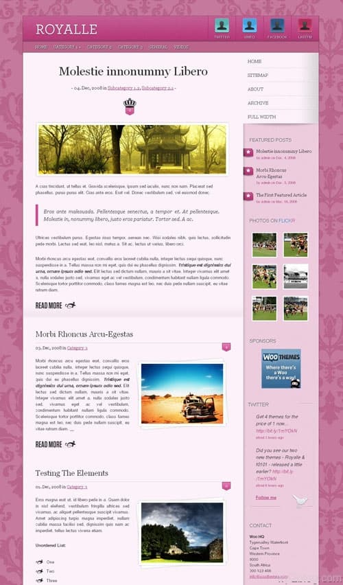 Royalle Premium WordPress Theme