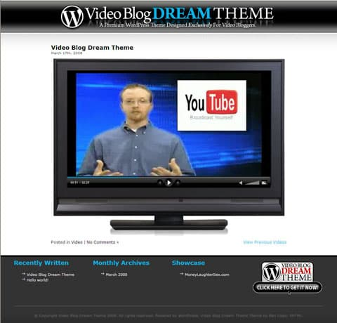 Video Blog Dream Theme