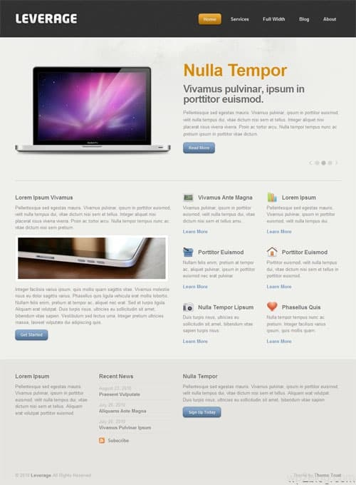 leverage wordpress theme