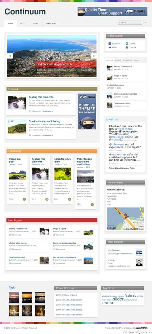 Continuum Magazine WordPress Theme