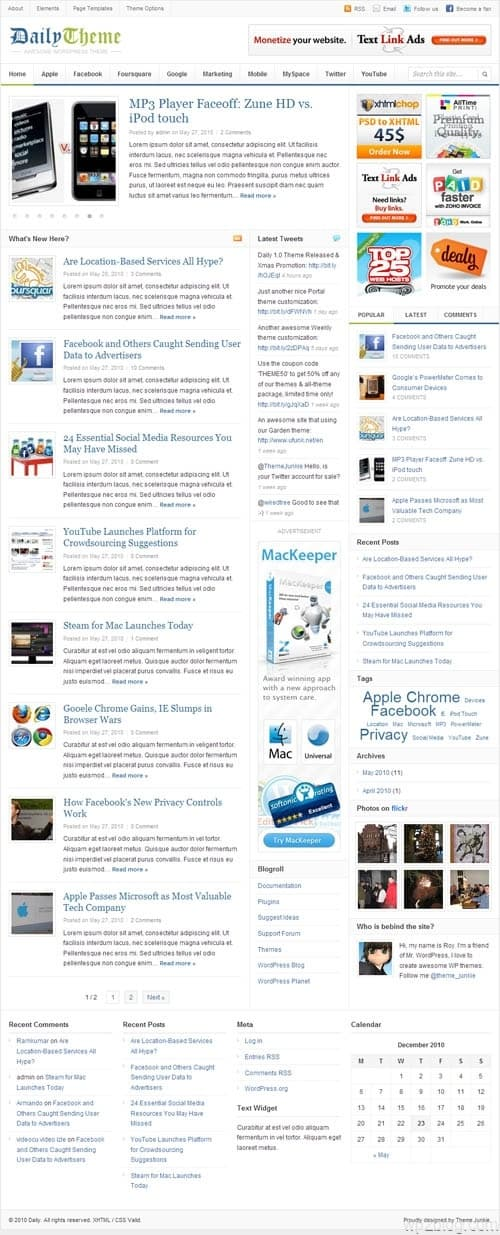 Daily Premium WordPress Theme
