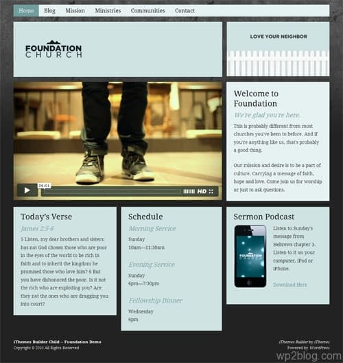 Foundation Church WordPress Theme