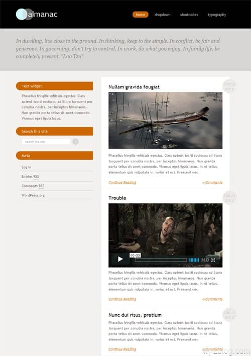 Almanac Premium WordPress Theme