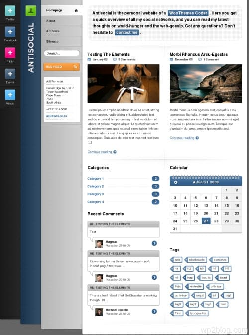 Antisocial Premium WordPress Theme