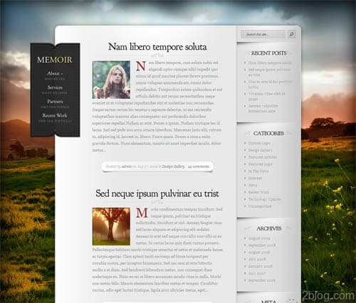 Memoir Premium WordPress Theme