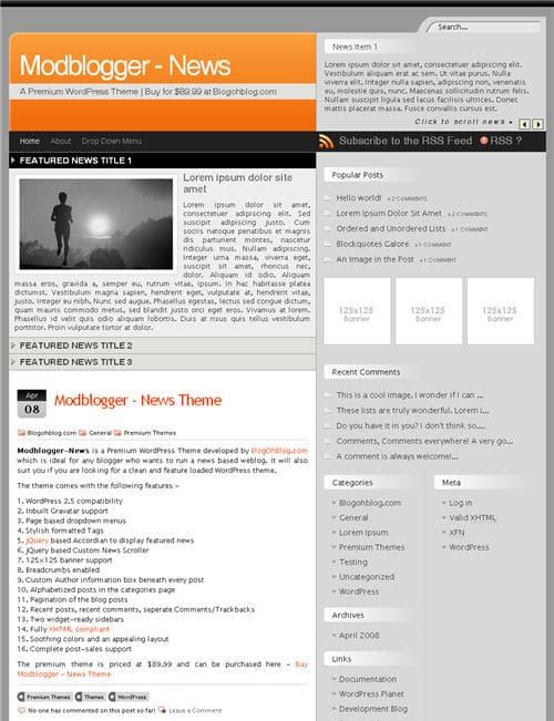 Modblogger News Theme