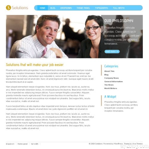 Solutions Business Premium WordPress Theme