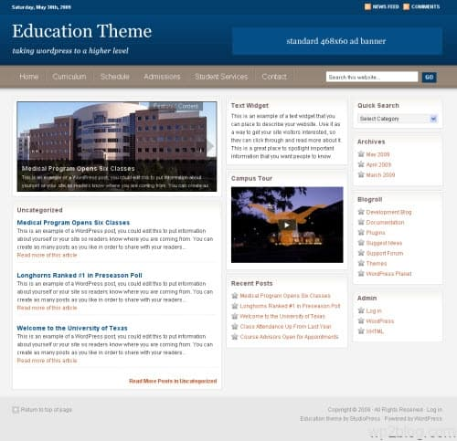 studiopress education theme