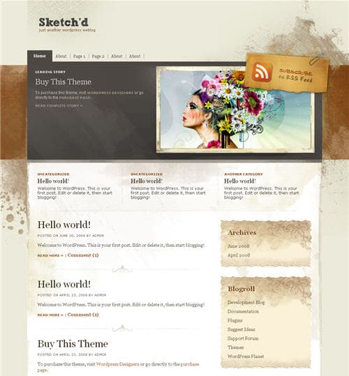Sketchd wordpress theme
