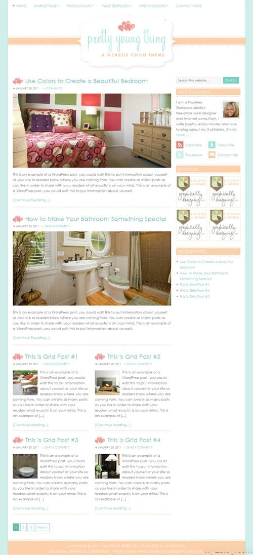 Pretty Young Thing Premium WordPress Theme