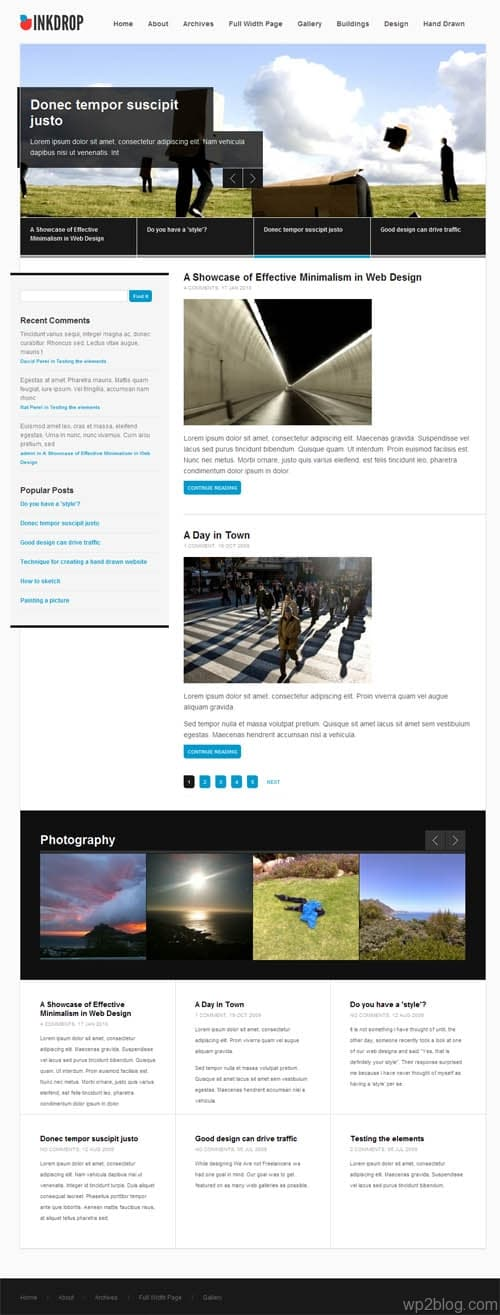 indrop wordpress theme