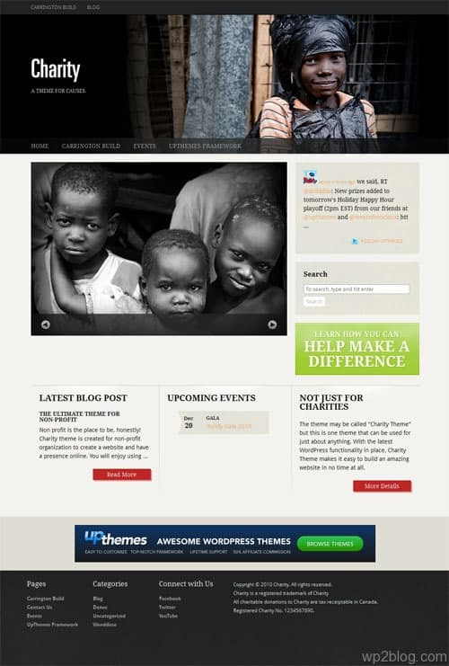 Charity Premium WordPress Theme
