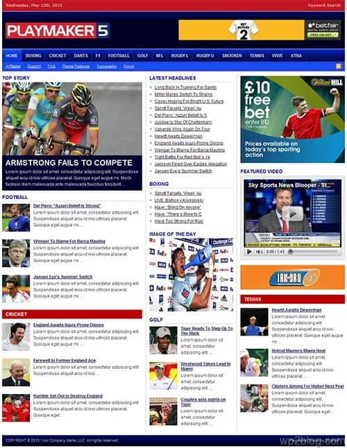 playmaker 5 wordpress theme