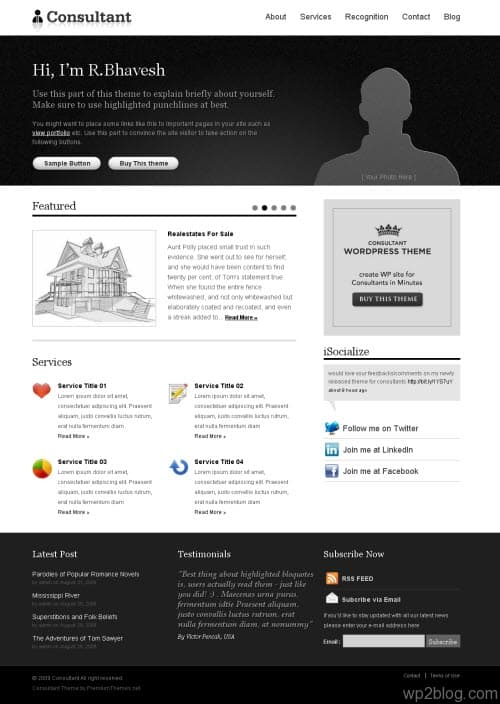 Consultant Premium WordPress Theme