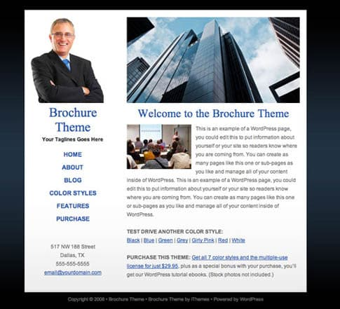 Brochure Theme