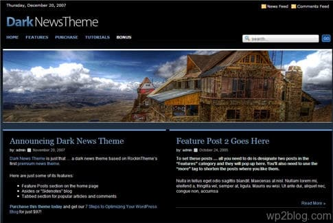 Dark News Theme