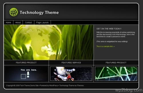 technology wordpress theme