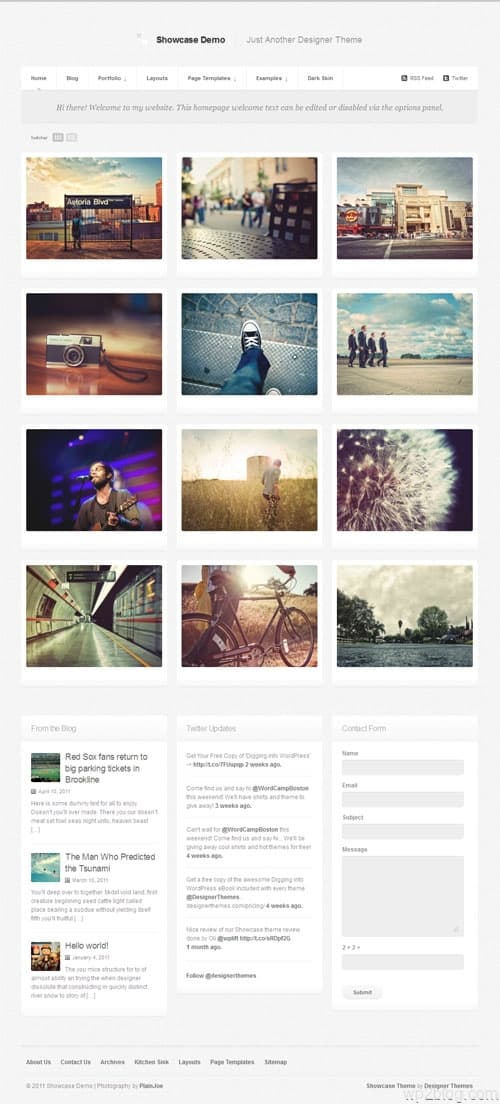 Showcase Photo Blog WordPress Theme