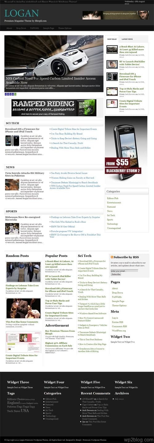 Logan Magazine WordPress Theme