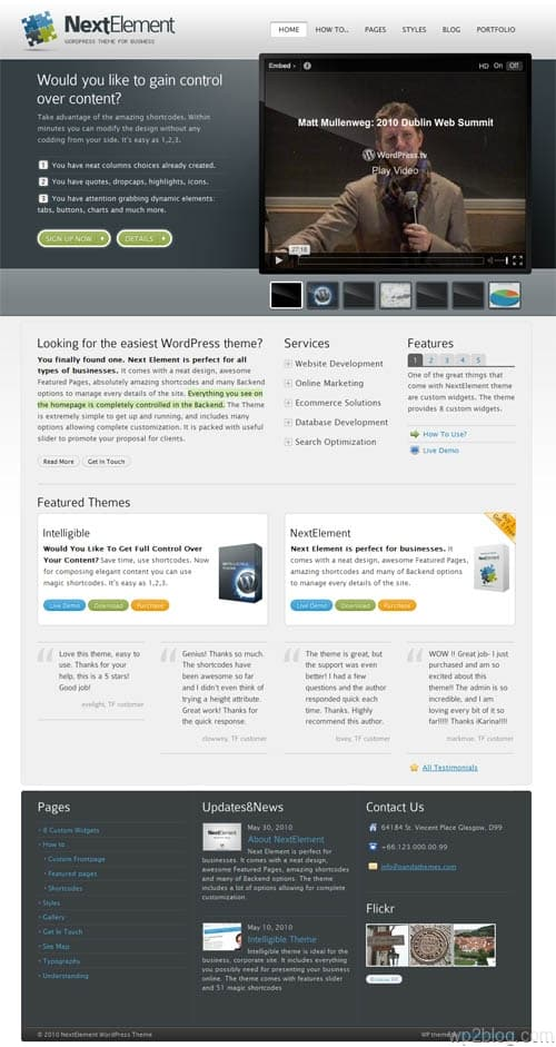 next element wordpress theme