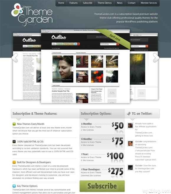 theme garden wordpress themes