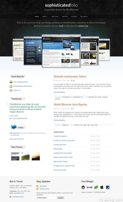 Sophisticated Folio WordPress Theme