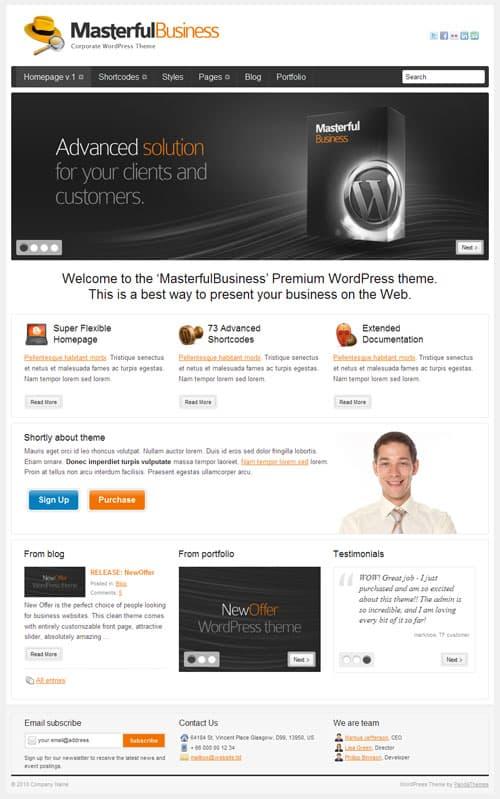 masterful business wordpress theme
