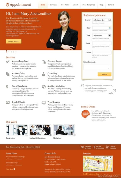 Appointment Premium WordPress Theme