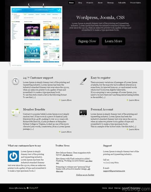 Home Office WordPress Theme