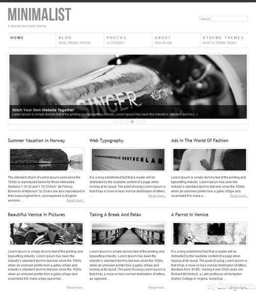 xtreme minimalist theme 10