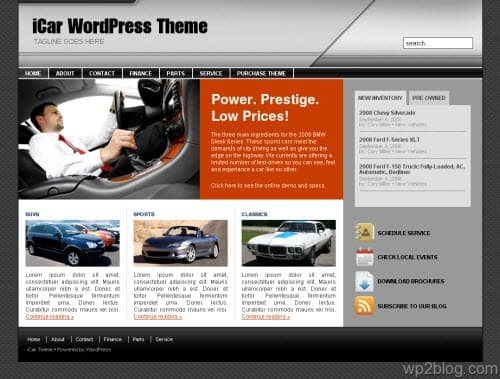 iCar WordPress Theme