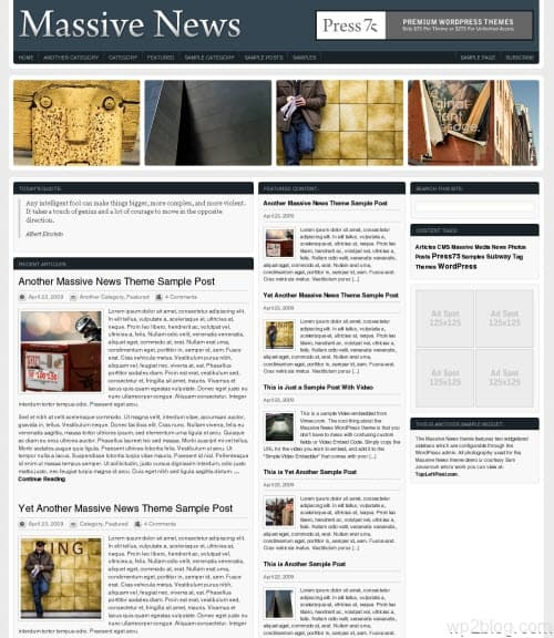 massive news 2 wordpress theme