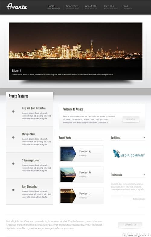 Avante Corporate WordPress Theme
