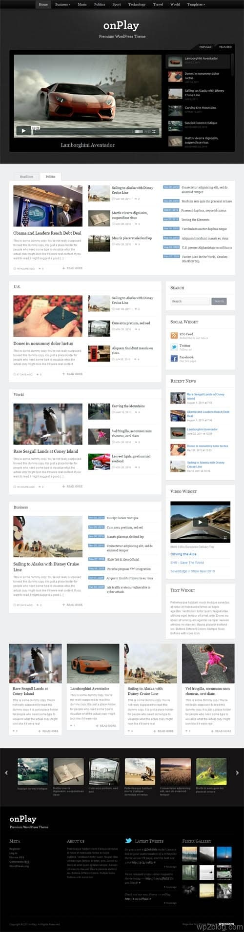 onPlay Magazine WordPress Theme
