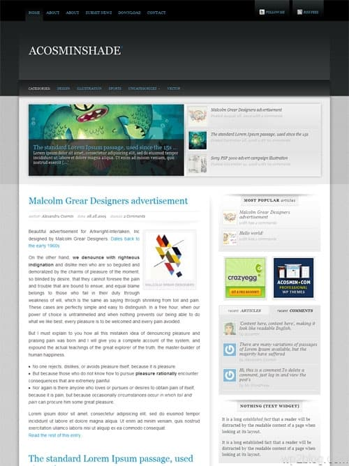 Acosmin Shade Premium WordPress Theme