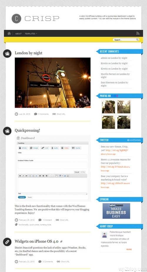 Crisp Micro-Blog WordPress Theme