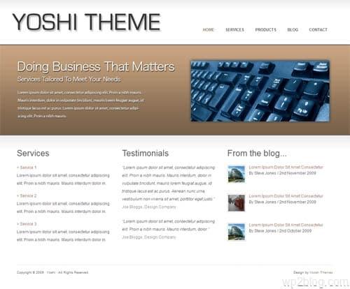 yoshi wordpress theme