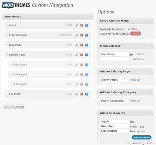 woo custom navigation
