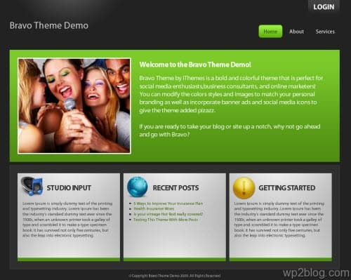 bravo business wordpress theme
