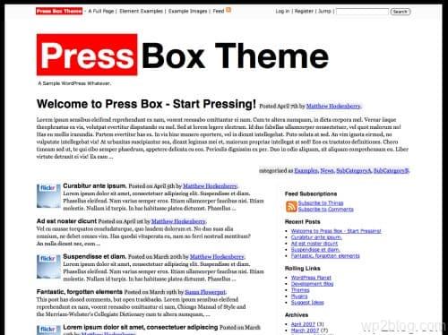 press box wordpress theme