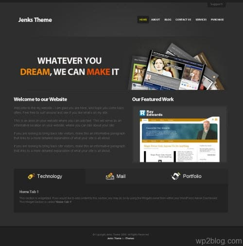 Jenks Business Premium WordPress Theme