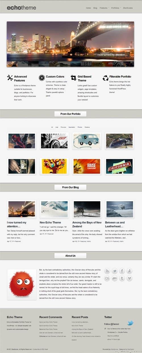 Echo WordPress Business Portfolio Theme