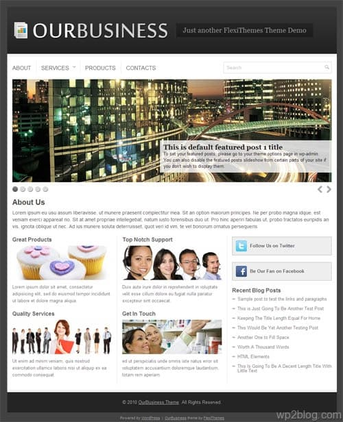 Our Business WordPress Premium Theme