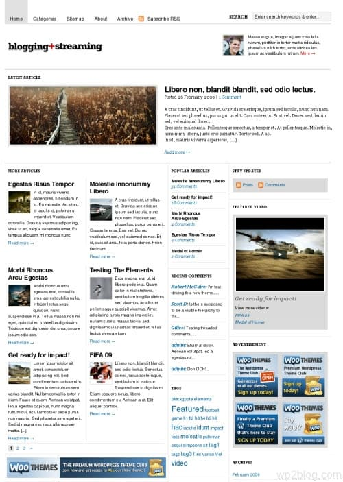 bloggingstream wordpress theme